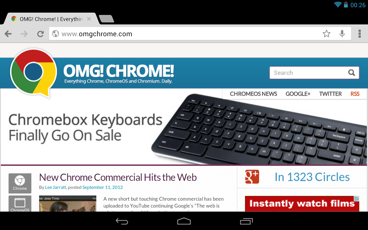 Chrome for Android Updated to Version 18 | OMG! Chrome!