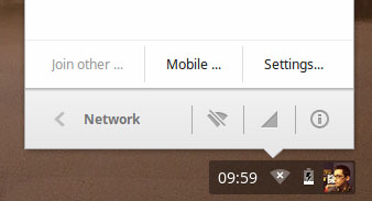 Network Tray in ChromeOS