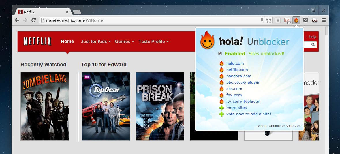 Hola unblocker for chrome lets you access blocked sites watch screenshot 2013 03 02 at 145645 ccuart Images
