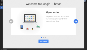 Google+ Photos - intro screen 1