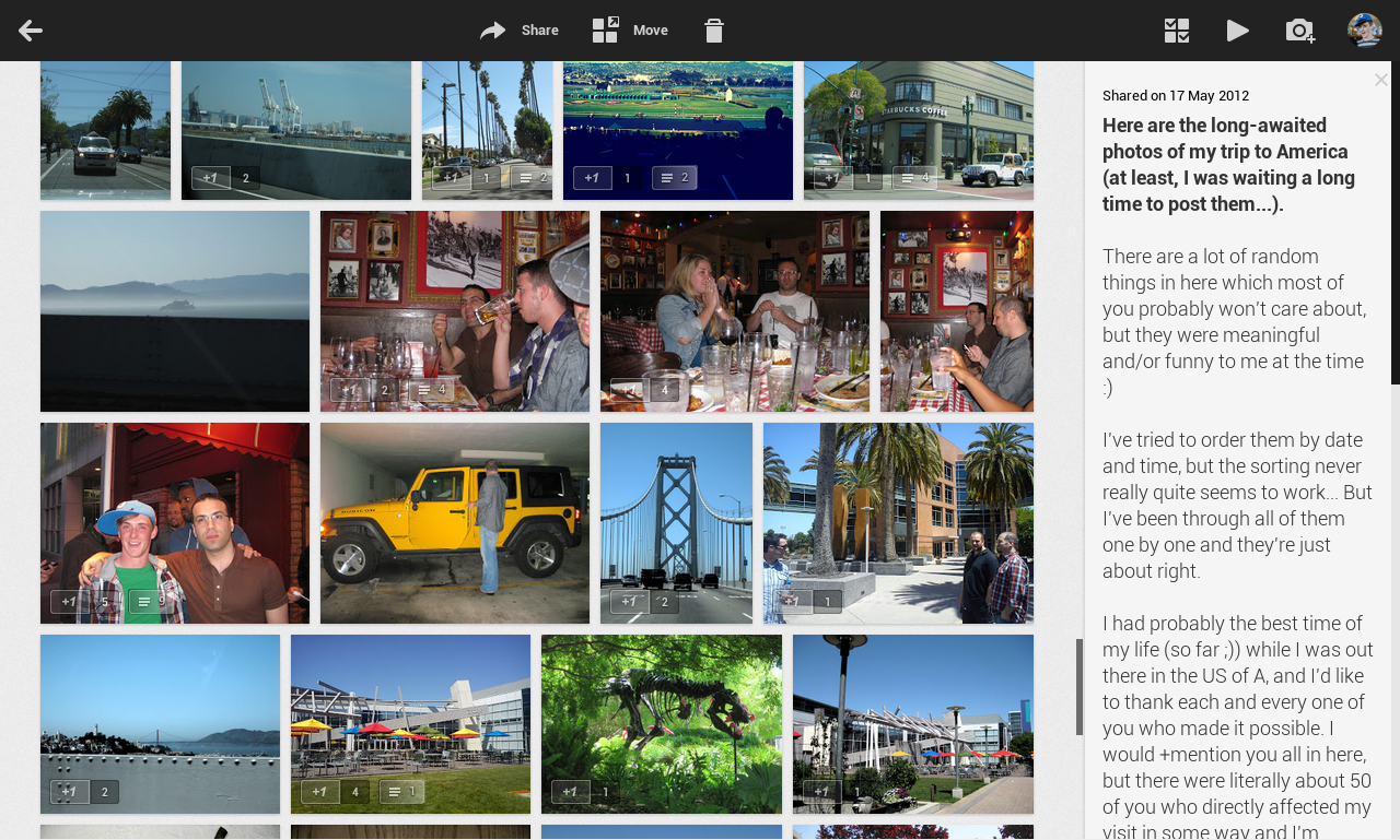 Google+ Photos - G+Post Gallery View