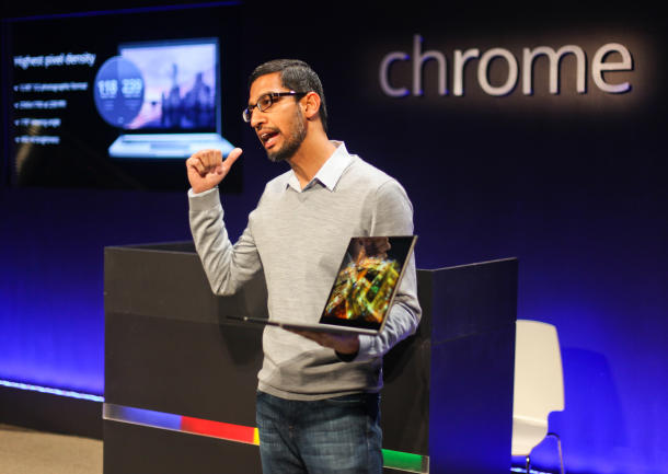 Sundar Pichai - VP for Android, Chrome and Google Apps