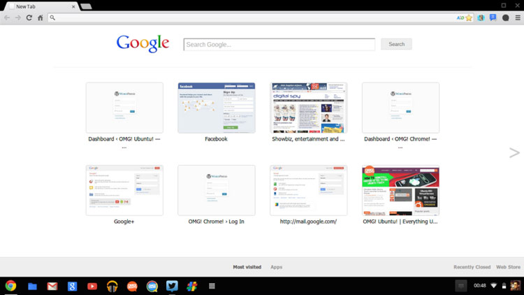 Chrome Dev Channel Revamps New Tab Page Omg Chrome