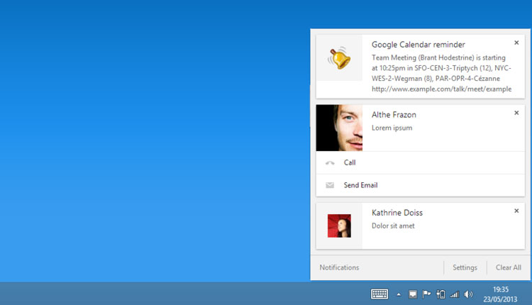 chrome notification centre on windows