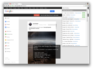 Previewing user-submitted styles for Google+