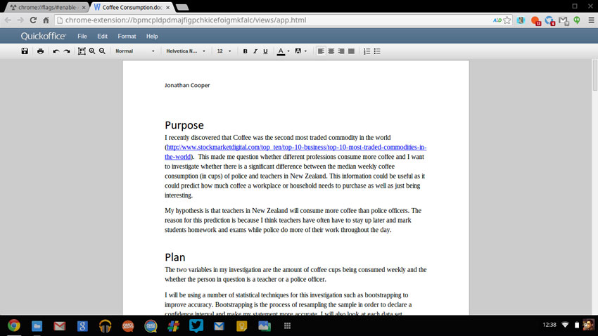 Quickoffice In Chrome