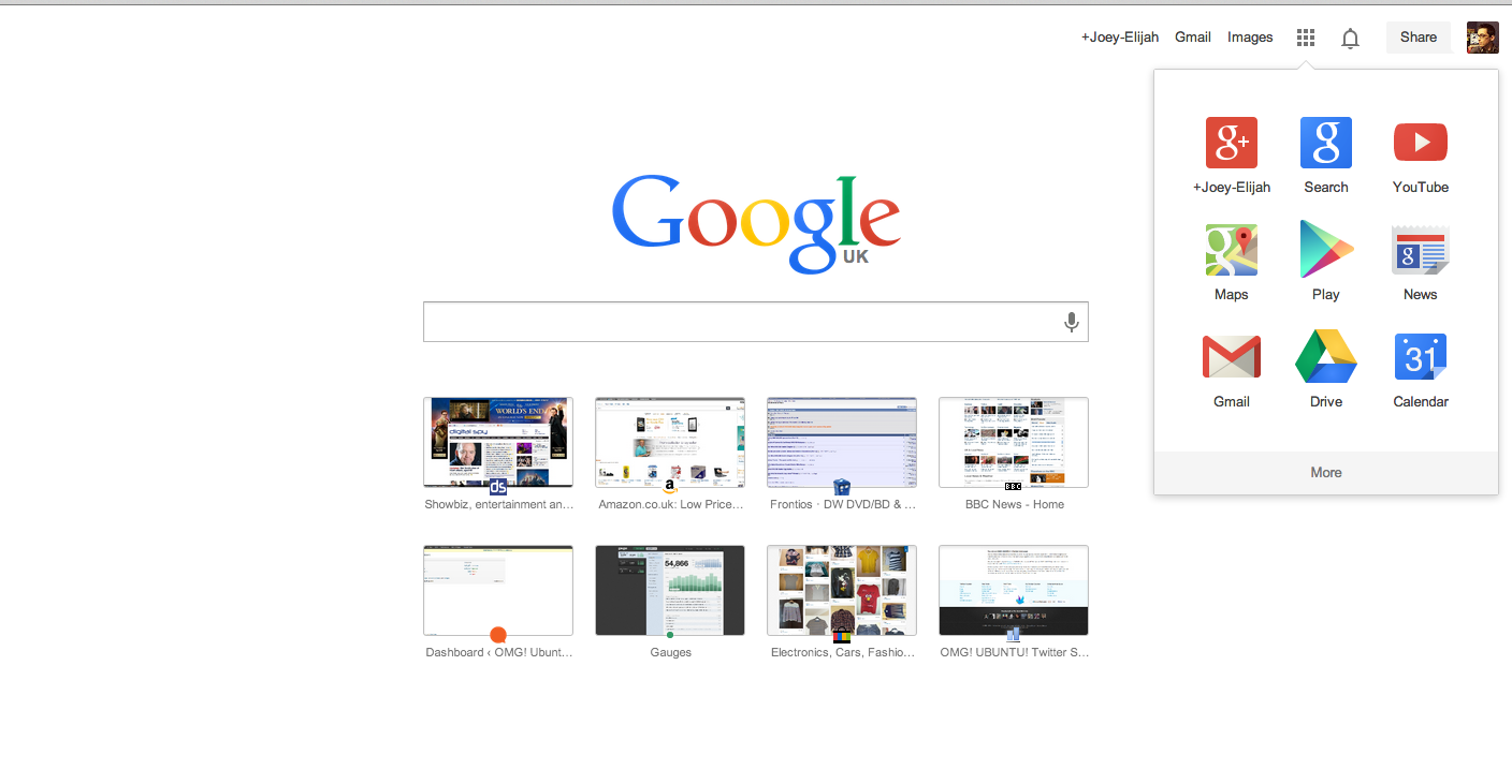 Google updates homepage with new logo and app launcher omg chrome - Google home page design ...