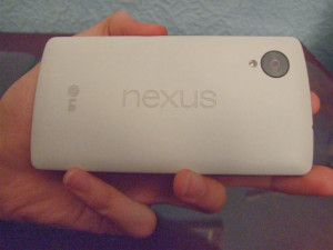 Back of the Nexus 5