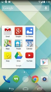 The Nexus 5 launcher in KitKat.