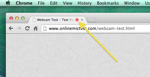 Google Chrome Tab Webcam Indicator