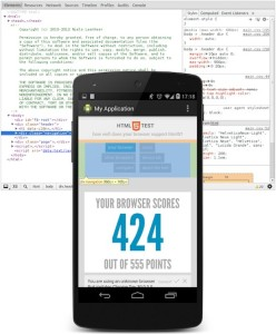 Debugging Android KitKat's WebView.