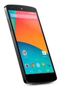 The Nexus 5 in white