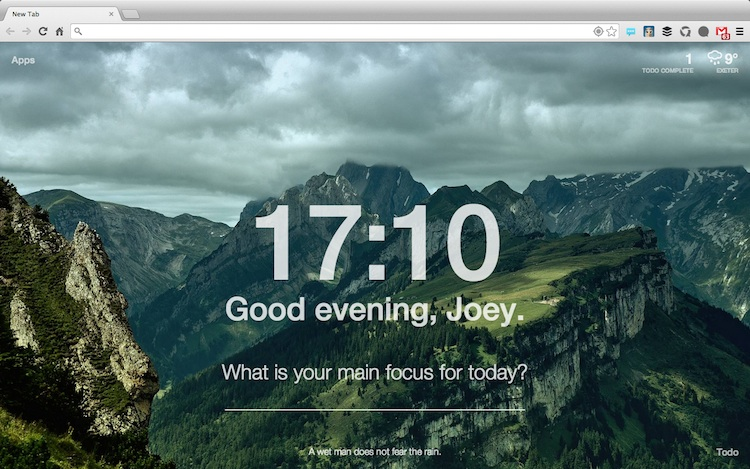 momentum adds inspiration and focus to chrome s new tab page omg
