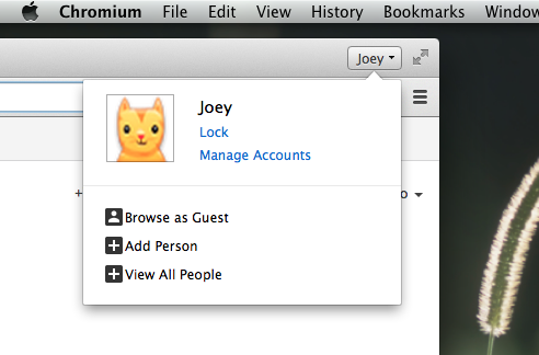 Chrome Canary Revamps User Switching Menu On Mac OS X   OMG! Chrome!