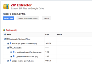 zip extractor for chrome