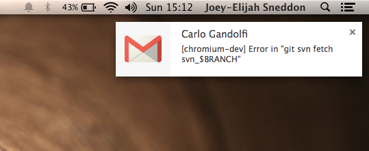 gmail notification on Mac