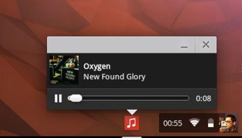 chrome os audio player tile