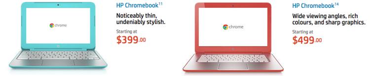 Chromebook Specs (Source: HP AU Website)