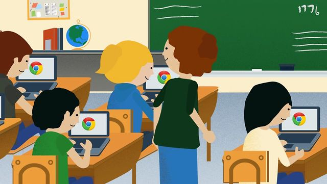 Modern Classroom Clipart ~ Chromebook education sales top million in just months