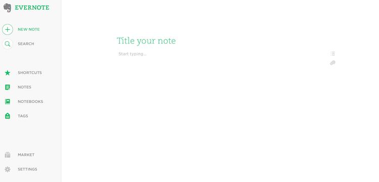 evernote web beta