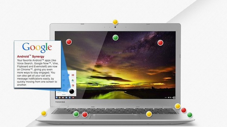 "Toshiba Chromebook 2 Touts ""Android Synergy"" In Site Ad"