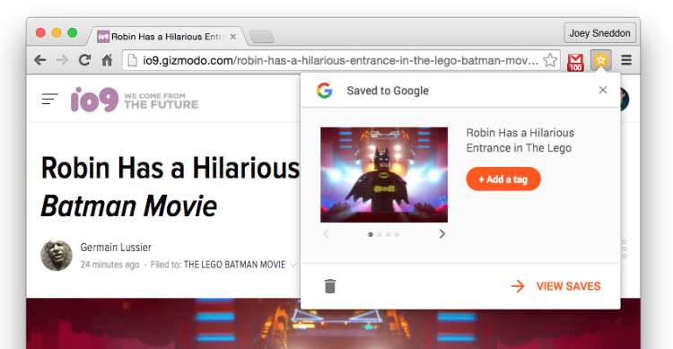 save to chrome extension
